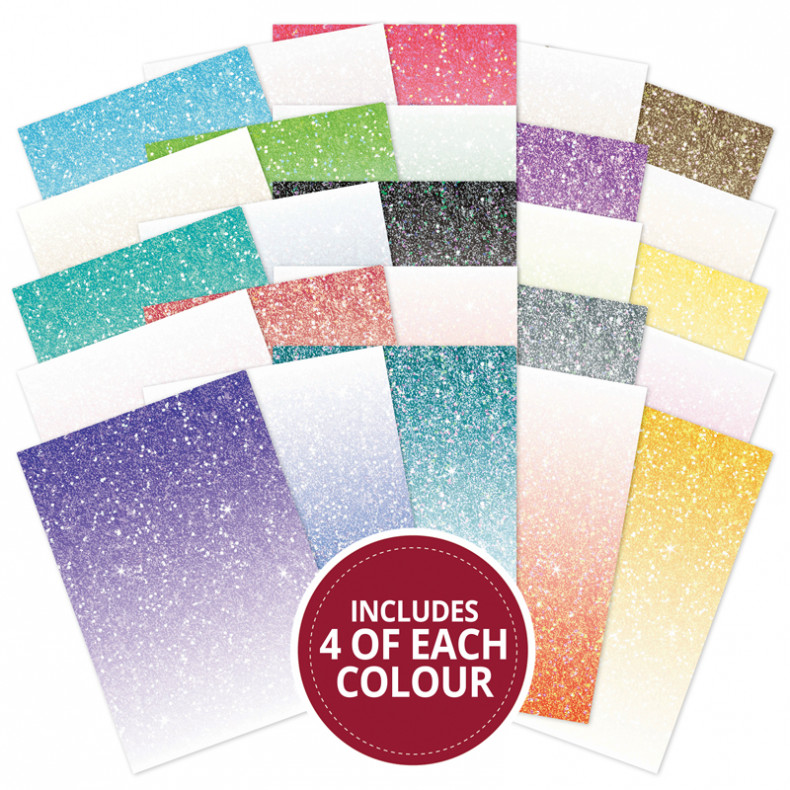 AS737 Hunkydory Glitter Ombre Adorable Scorable 100 Sheet Megabuy