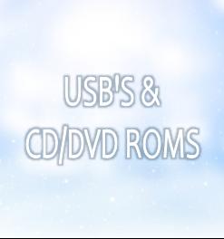 USB's, CD & DVD ROMS